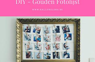 DIY van oude kader tot gouden fotolijst.
