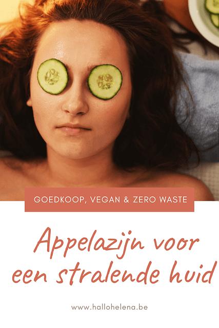 Appelazijn is de perfecte huidverzorging. Het laat je huid stralen en het is goedkoop, vegan en zero waste.